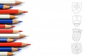 фон, карандаши, цвет