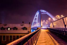братислава, мост, архитектура, julo kotus, уличный свет, wallhaven, снег, зима, ночь, словакия