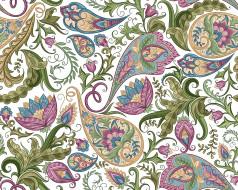 цветы, узор, design, background, paisley, белый фон, текстура, floral, seamless, пейсли