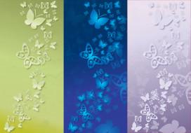 бабочки, абстракция, фон, вектор