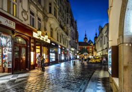 города, прага , Чехия, вечер, улица