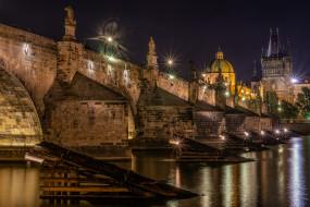 charles bridge in praque, города, прага , Чехия, простор