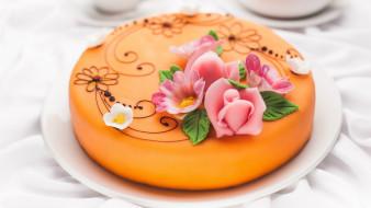 торт, украшения, глазурь
