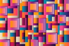 абстракция, геометрия, квадраты, фон