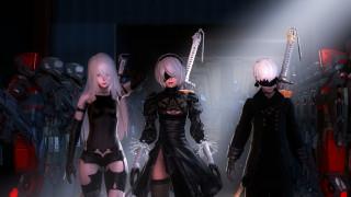 меч, маска, девушки, фон, взгляд, мужчина