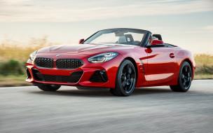 красный, вид спереди, бмв, z4, спортивный автомобиль, кабриолет, родстер