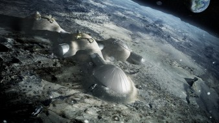 ESA проект, ЕКА, романтика, техника, наука, база, станция, дом, космонавты, Луна, космос