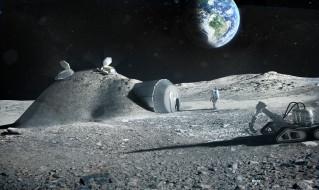 космос, луна, дом, космонавты, землянка, база, романтика, земля, проект, станция, esa, ека, наука, техника