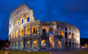 Колизей, архитектура, подсветка