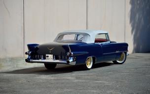 cadillac eldorado,  1955, автомобили, cadillac, вид, сзади, eldorado, convertible, 1955, кабриолет, классика, ретро