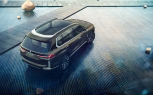 bmw, немецкие автомобили, синий, новый, вид сзади, внедорожник