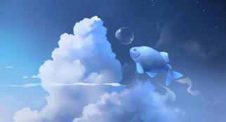 рыба, небо, облака