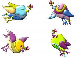 векторная графика, животные , animals, птицы, ветки, фон