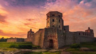 krzyztopor, wallhaven, восход солнца, крепость, небо, польша