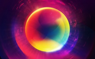 цвета, блики, круги, шар