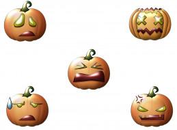 праздничные, хэллоуин, фон, тыквы