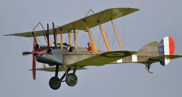 полёт, лётчик, биплан, Royal Aircraft Factory