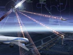 графика, высокие технологии, аэропорт, транспорт, пассажирские самолёты, авиалайнер, навигация, техника, спутник, авиация, самалёт