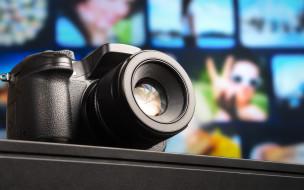 SLR, фотоаппарат, камера, стол