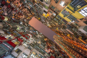окна, здания, дома, Гонконг, Hong Kong, Wan Chai, Ваньчай