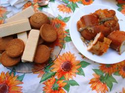 вафли, печенье, пирог, еда