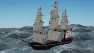 корабли, 3d, парусник, море
