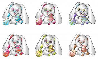 кролик, фон, яйца