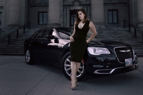 брюнетка и chrysler, автомобили, -авто с девушками, wallhaven, лестницы, женщины, на, открытом, воздухе, с, автомобилями, сhrysler, автомобиль, модель, брюнетка, декольте, каблуки
