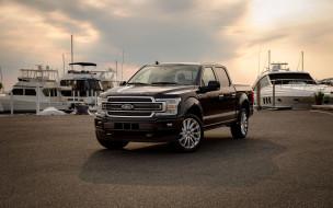 2018 ford f-150 limited supercrew, автомобили, ford, причал, внедорожники, f-150, пикапы, американские, яхты, форд