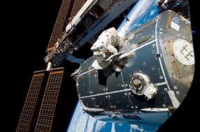 астронавт, станция, Земля, космос