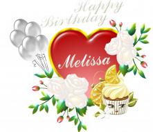 праздничные, день рождения, сердечко, фон, цветы