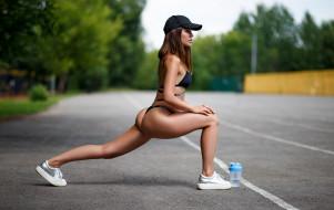 девушка, спорт, фитнес, модель
