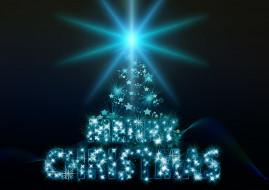 праздничные, векторная графика , новый год, лучи, надпись, фон, новый, год