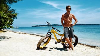 велосипед, пляж