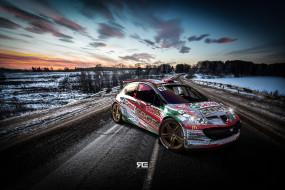 WRC, Rally, Ралли, Peugeot, Машина, Спорт, Дорога, Авто