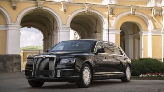 лимузин, aurus senat, 2018, черный, россия