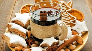 праздничные, угощения, печенье, глинтвейн