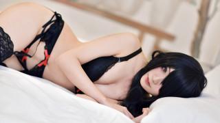 Kurumi Tokisaki, бельё, подтяжки, date a live, cosplay, японка, чулки