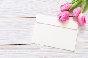 фон, розовый, букет, тюльпаны, цветы