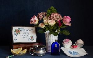 цветы, розы, пирожные, лимон, цитрус, букет, натюрморт