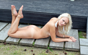 эротика, блондинки, девушка, поза, fozol, кэтрин, карина, грудь, голая, фон, взгляд