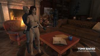 эро-графика, видео игры, взгляд, девушка, грудь, фон