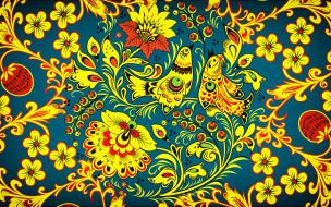 векторная графика, птицы , птицы, madeinkipish, хохломская, роспись, хохлома, фон, стиль, цветы, арт, иван, иваныч, русская