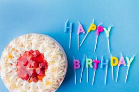 буквы, свечи, торт