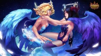 Селеста, крылья, Хроники Хаоса, девушки, Hero Wars