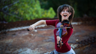 музыка, lindsey stirling, скрипка, девушка