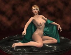 эро-графика, 3д-эротика, грудь, взгляд, фон, девушка