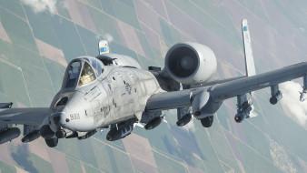 двух двигательный штурмовик, ВВС США, A-10, Fairchild Republic, американский одноместный, Thunderbolt II