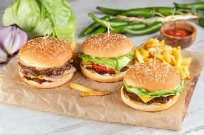 еда, бутерброды,  гамбургеры,  канапе, фри, овощи, гамбургер
