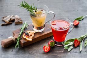 еда, напитки,  коктейль, цитрусы, ягоды, коктейль